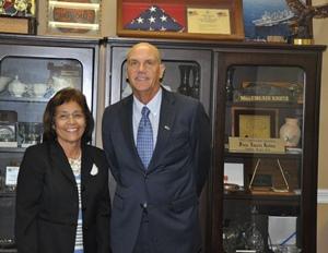 H.E. President Hilda Heine and U.S. Ambassador Thomas Armbruster